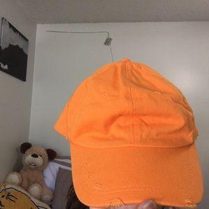 Orange F21 Hat